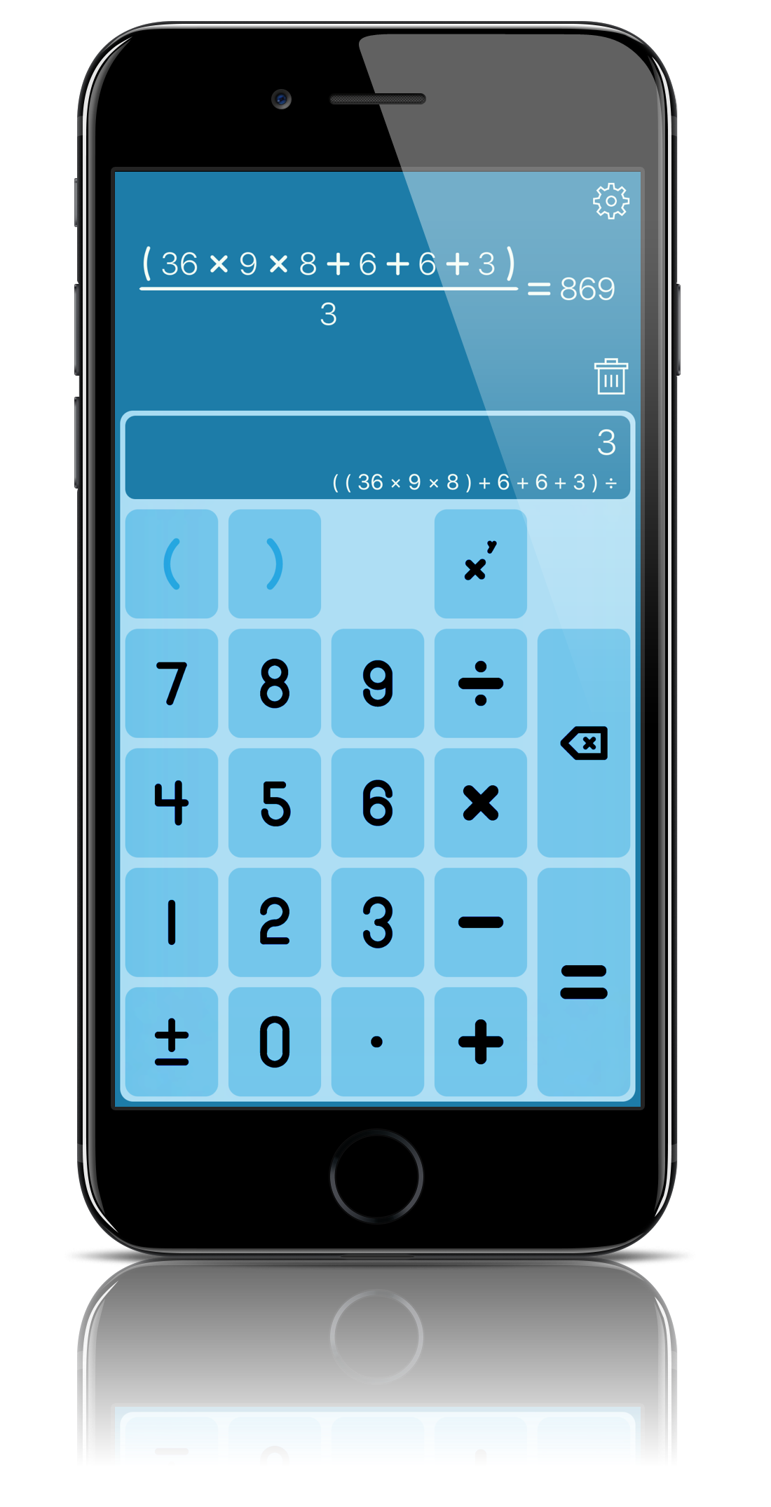 StackCalc screenshot
